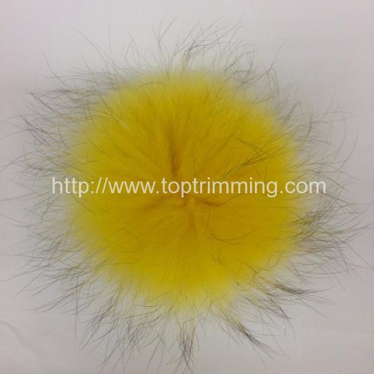 2861b1881eba Extra Large 6″ Real FoxFur Pom Pom Hat Raccoon Pompom Fox Fur Pompom Large  Pom Poms Fur Ball